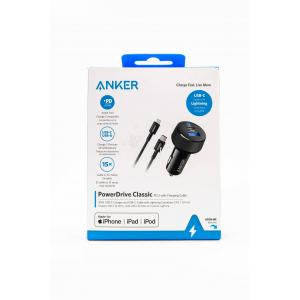 ANKER Power Drive Classisc PD 2 with charging Cable - Car Charger